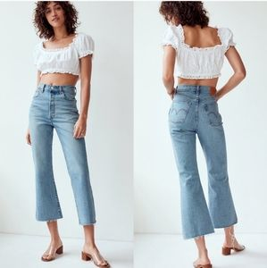 Levi's Ribcage Extra High Rise Flare Cropped Jeans